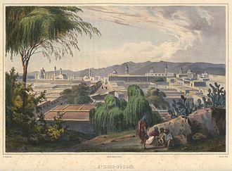 San Luis Potosí - View of San Luis Potosí by Carl Nebel