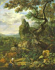 Große Landschaft mit Vieh