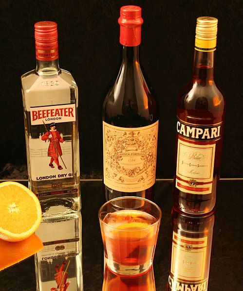 File:Negroni with ingredients.jpg