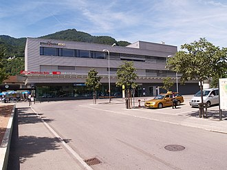 Landquart railway station - Landquart station building