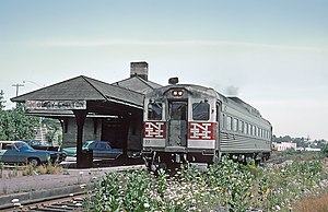 Derby–Shelton (Metro-North station) - A train at Derby-Shelton station in July 1968