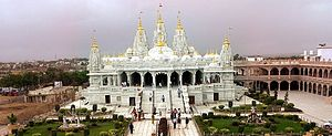 Shri Swaminarayan Mandir, Bhuj (New temple) - The Temple just after inauguration