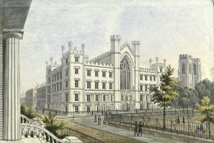 New York University Building in Washington Square, 1850