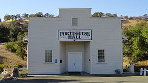 Newcastle, California - Portuguese Hall in Newcastle is listed on the National Register of Historic Places
