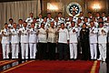 """Newly-promoted generals and flag officers do the """"Duterte fist"""" during the oath-taking ceremony.jpg"""