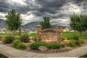 Nibley, Utah - City sign