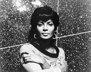 Personal life of Gene Roddenberry - Roddenberry had a relationship with Nichelle Nichols (pictured in 1967) prior to work on Star Trek.