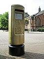 Nick Skelton's gold postbox in Bedworth, Warwickshire.jpg