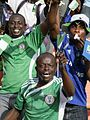 Nigerian fans at 2009 World Cup qualifying match.jpg