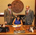 Nikki Haley Ceremonial Bill Signing- S.1049 - Marketing Cooperative Associations (27491691721).jpg