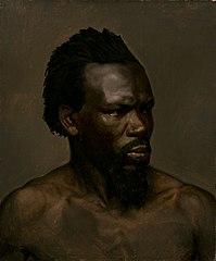 Bust portrait of a black man