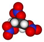 Spacefill model o nitroglycerin