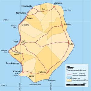 Alofi - Image: Niue Verwaltungsgliederun g