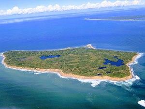 Nomans Land (Massachusetts) - Photograph of the island Nomans Land, Massachusetts during airplane flyover.