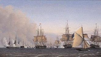 Emil Normann - Image: Normann Slaget på Rheden den 2. april 1801 1830