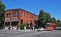 North Bank Depot west building with streetcar, 2011.jpg