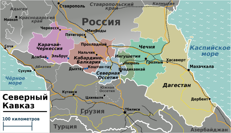 File:Northern Caucasus regions map (ru).png