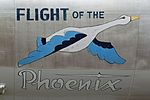 "Nose art on WB-50D Superfortress ""Flight of the Phoenix"" (49-0351) (29904253685).jpg"