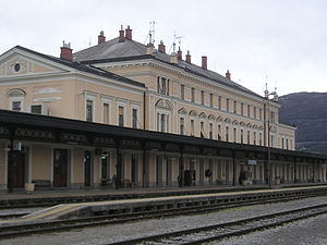 Nova Gorica railway station - Image: Nova Gorica train station