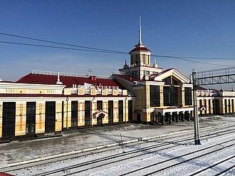 Novokuznetsk - Image: Novokuznetsk railway station renovated