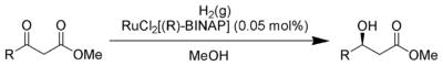 Noyori Asymmetric Hydrogenation Scheme.png
