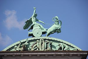 Ny Carlsberg Brewhouse - The Thor sculpture on the roof