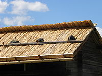 Roof covered with wood