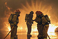OCS candidates undergo firefighting traning in Newport, R.I. (11948820074).jpg
