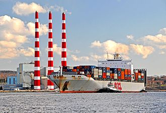 Port of Halifax - Container ship in Halifax Harbour