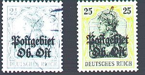 Ober Ost - Postage stamps Ober Ost