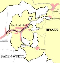 Grenzziehung bei Ober-Laudenbach