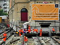 Oerlikon - 'Gleis 9' während der Gebäudeverschiebung 2012-05-23 15-41-18 (P7000).JPG