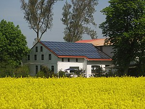 House in Oesterwurth with solar panels and rap...