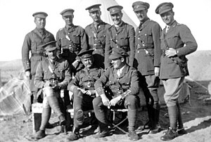 New Zealand Expeditionary Force - A group of officers, taken at a WW1 camp in Egypt