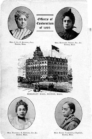 First National Conference of the Colored Women of America - Image: Officers of Convention of 1895
