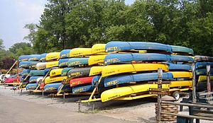 """Loudonville, Ohio - """"Canoe Capital of Ohio"""" by the Mohican River"""
