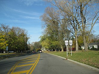 """Ohio State Route 86 - Ohio State Route 86 concurrency with SR 84; The """"NORTH"""" sign has since been replaced with a """"WEST"""" sign"""