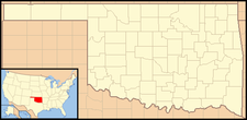 Davenport is located in Oklahoma