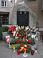 Okopowa Street (at Mireckiego Street) - place of remembrance.JPG