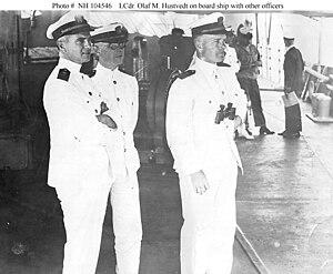 Olaf M. Hustvedt - Image: Olaf M. Hustvedt with two officers