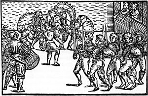 1556 in Sweden - Olaus Magnus Sword dance
