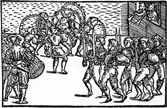 1556 in Sweden - Olaus Magnus Sword dance