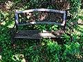 Old bench at High Beach Cricket Club 2.jpg