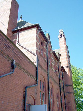 William Hulme's Grammar School - The north face of the Old Building looking towards the front of the School