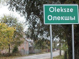 Bilingual communes in Poland - Image: Oleksze 1