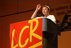 Revolutionary Communist League (France) - Olivier Besancenot, holding a meeting as LCR candidate for the 2007 presidential election