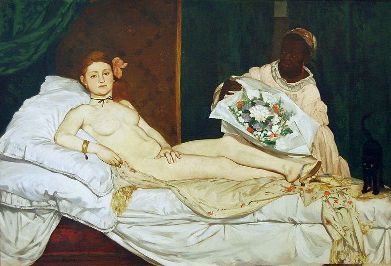 Édouard Manet, Olympia, 1863,Musée d'Orsay, Paris, France. The image of Sex on Art Timeline! Paintings film Orlando