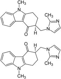 Ondansetron Enantiomers Structural Formulae.png