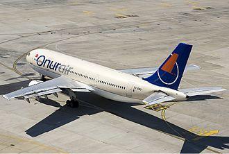 Onur Air - An Onur Air Airbus A300 at Istanbul Atatürk Airport in 2008.