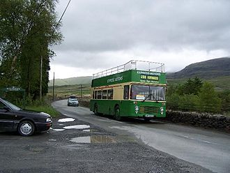 A4085 road - The A4085 carried an open topped bus service in school holidays from Easter to the end of August to provide a link to the WHR at Rhyd Ddu until it extended to Beddgelert at Easter 2009.